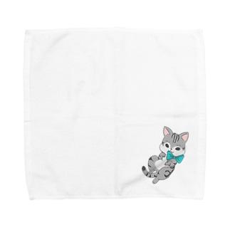 あざとい猫 Towel handkerchiefs