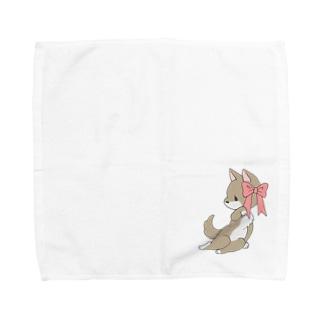 あざとい犬 Towel handkerchiefs