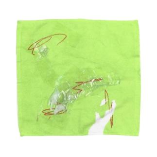 折り紙など(3歳)2 Towel handkerchiefs