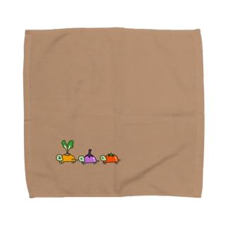 やさいのきれはしカメくん Towel handkerchiefs