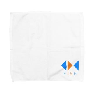 FISHロゴ Towel handkerchiefs