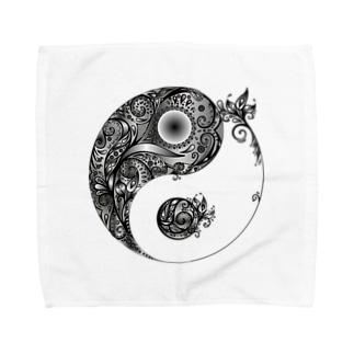 太陰太極図 Towel handkerchiefs