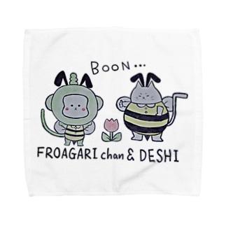 ふろあがりちゃん&弟子 蜂バージョン Towel handkerchiefs