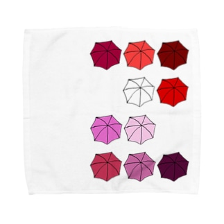 傘の花 あか Towel handkerchiefs