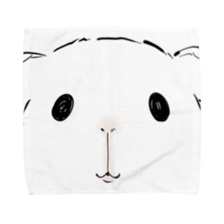 見てるモルモット Towel Handkerchief