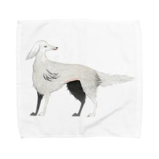 自分をお姫様だと思っているボルゾイ Towel handkerchiefs