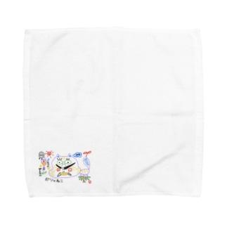 ぽしゃ猫グッズ Towel handkerchiefs