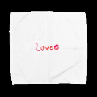 cherie87の手書きLove Towel handkerchiefs