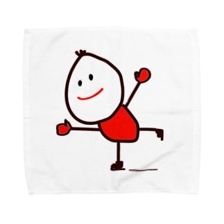 スケートくん Towel handkerchiefs