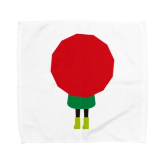 赤い傘の女の子 Towel handkerchiefs