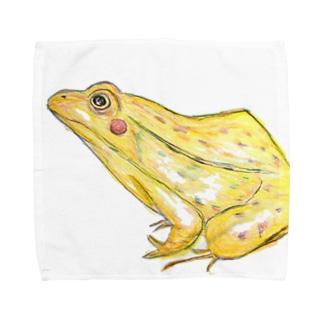 てがきとのさまがえる Towel handkerchiefs