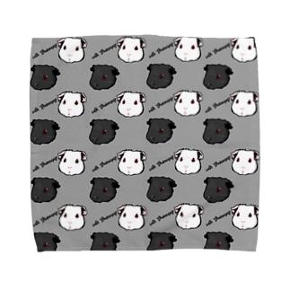 Lichtmuhleのwith Guineapig グレー Towel handkerchiefs