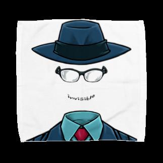 堀越ヨッシーのお店(SUZURI支店)の透明な人間 Towel handkerchiefs