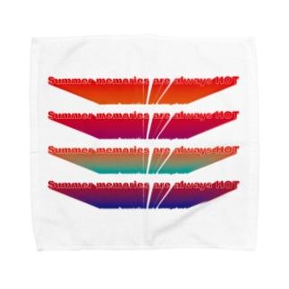 夏はいつだってアチい思い出 Towel handkerchiefs