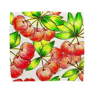 cherry Towel handkerchiefs