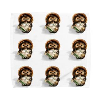 雌狸(9匹) Towel handkerchiefs