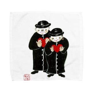 祈る二人 Towel handkerchiefs