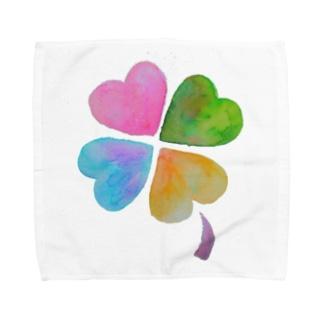 しあわせくろーばー Towel handkerchiefs