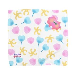 スパンコール💙シェル総柄 Towel handkerchiefs