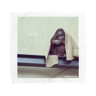 オランウータンマリア Towel handkerchiefs