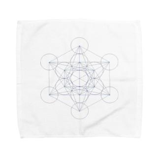 シンプル 「Metatron's Cube」 Towel handkerchiefs