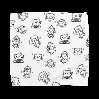 サウナ好きのカワウソのうじゃうじゃサウナ好きのカワウソ Towel handkerchiefs