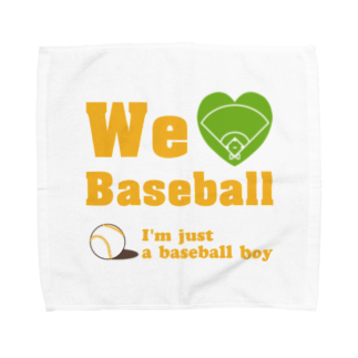 キッズモード某のWe love Baseball(イエロー) Towel handkerchiefs