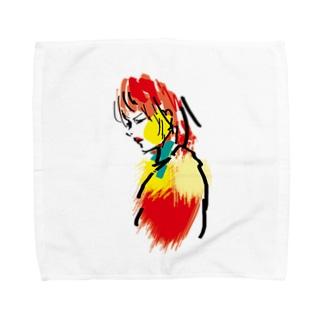 赤リップ Towel Handkerchief