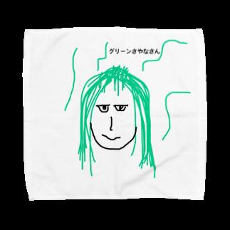 Momoka Takahashiのグリーンさやなさん Towel handkerchiefs