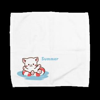 Haruna shopのしろねこ♡夏 summer Towel handkerchiefs