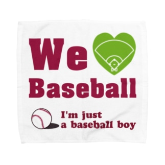 We love Baseball(レッド) Towel handkerchiefs