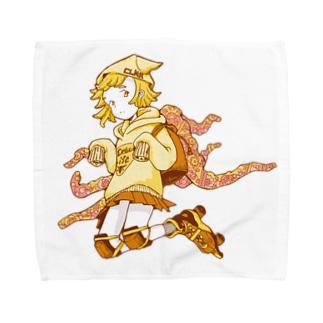 げそにんちゃんグッズ(黄) Towel handkerchiefs