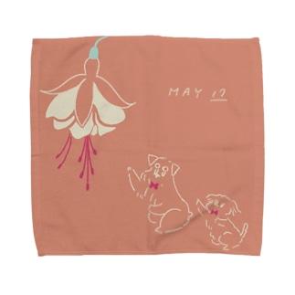 ととめめ/ totomemeのととめめ明日のお花:5月17日 Towel handkerchiefs