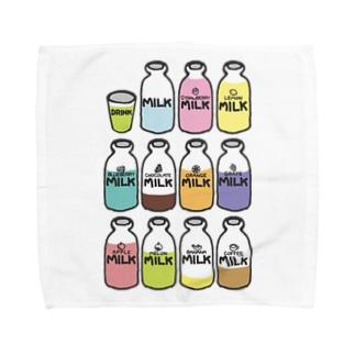 らくがきシリーズ『イロイロみるく』カラフル Towel handkerchiefs