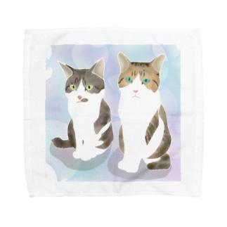 にゃんず Towel handkerchiefs
