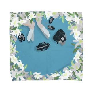 白百合 《L》 Towel handkerchiefs