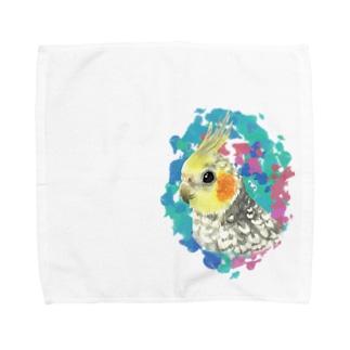 パールのオカメちゃん Towel handkerchiefs