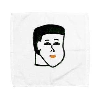 にんまりモミアゲ坊や Towel handkerchiefs