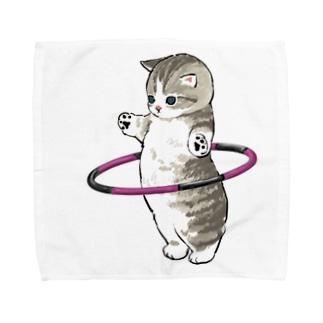 フラフープにゃん Towel handkerchiefs