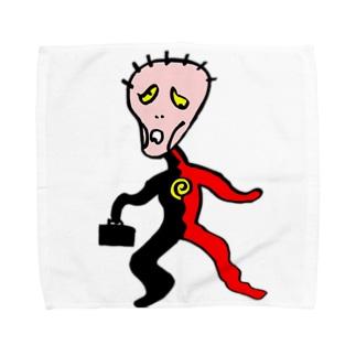 """えどさん"""" 作『さびざん""""マン』 Towel handkerchiefs"""