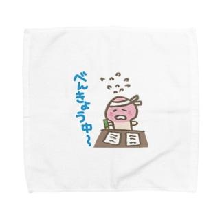 がんばれ!きのこ君『勉強中』 Towel handkerchiefs