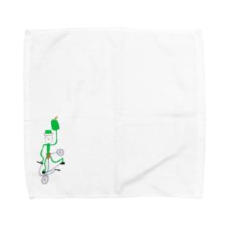 生まれた時から蕎麦出前人 Towel handkerchiefs