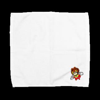 XenoPra/ぜのぷら じさかーのアフロちゃん Towel handkerchiefs