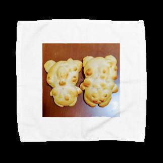 シェイモのおしゃれきつねさんパン Towel handkerchiefs