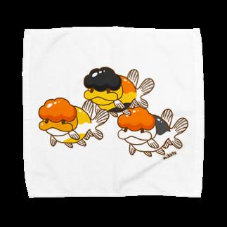 よいこのきんぎょのタイらんちゅうスリー Towel handkerchiefs