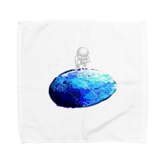 水たまり Towel handkerchiefs