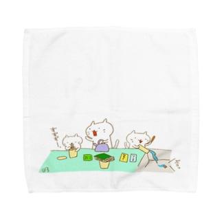 カップラーメンとカップ焼きそば Towel handkerchiefs