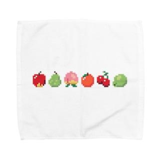 ドット絵フルーツ ヨコ Towel handkerchiefs