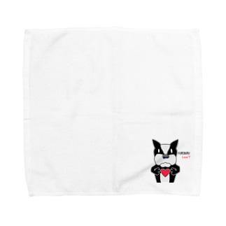 ふれんちぶるどっく LOVE? Towel handkerchiefs