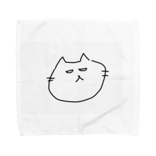 やばい顔しちゃってるねこ Towel handkerchiefs
